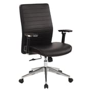 Office Star Bonded Leather Managers Chair, Black