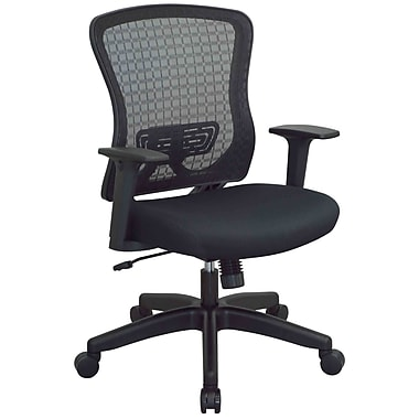 Office Star – Fauteuil de direction en maille respirable Space Seating CHX foncé, noir