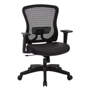 Office Star Space Seating CHX Dark Breathable Mesh & Bonded Leather Manager's Chair, Black