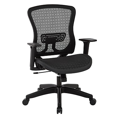 Office Star – Fauteuil de direction Space Seating en maille respirable CHX foncé, noir