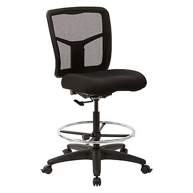 Office Star – Chaise de dessinateur Pro-Line à dossier en maille ProGrid avec repose-pieds circulaire réglable, noir
