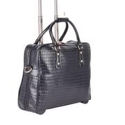 Bugatti Ladies Business Case on Wheels, Black (LBZW1702)