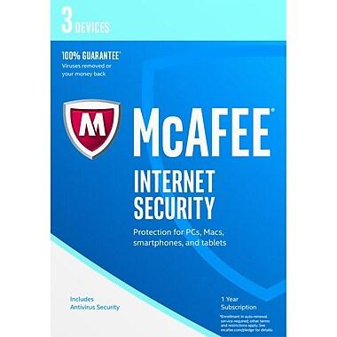 McAfee – Internet Security 2017, pour 3 appareils, anglais États-Unis/français Canada, [Téléchargement]