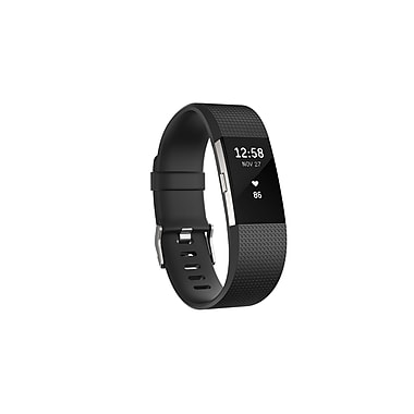 Fitbit Charge 2 Heart Rate & Fitness Wristband, Black, Small (FB407SBKS-CAN)