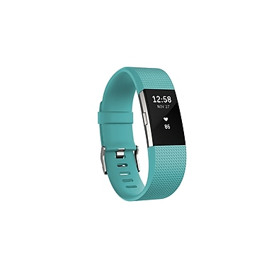 Fitbit Charge 2™ Heart Rate & Fitness Wristband, Teal, Small (FB407STES-CAN)