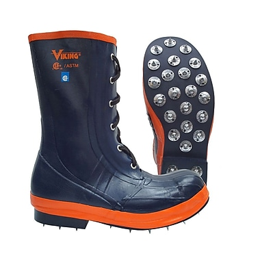Viking Spiked Forester Lace-Up Boot, Caulked Sole, Steel Toe