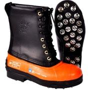Viking – Botte noire Tusk pour zones forestières, cuir/caoutchouc, embout d'acier, nylon balistique résistant