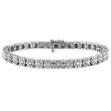 Allegro STP000126, 1/2 CT TW Diamond Tennis Bracelet in Sterling Silver, 7