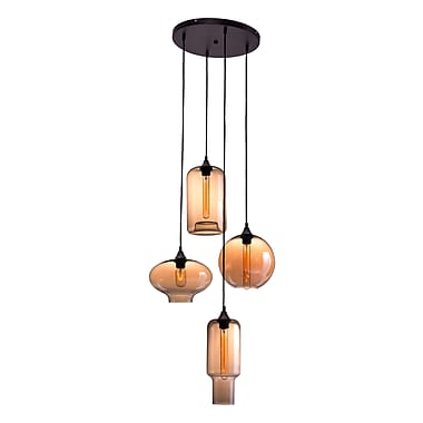Lambie Ceiling Lamp Rust & Amber (WC98425)