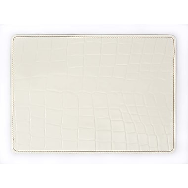 EcoDomo Andeline Bianco Croc Leather Placemat
