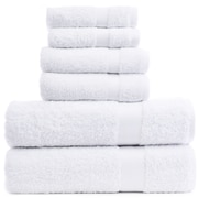 Bare Cotton Luxury Hotel and Spa 100pct Genuine Turkish Cotton 6 Piece Towel Set