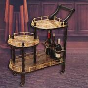 Astoria Grand Fields 3-Tier Bar Cart