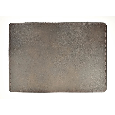 EcoDomo Andeline Antique Black Walrus Leather Placemat (Set of 4)