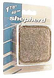 Shepherd 1-7/8'' Square Metal Carpet Base Caster Cups (Set of 4)