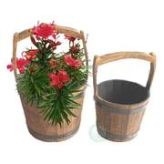 Quickway Imports 2-Piece Wood Pot Planter Set