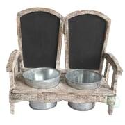 Quickway Imports Adirondack 2-Piece Wood Pot Planter Set
