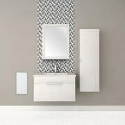 Cutler Kitchen & Bath Textured Wall Mirror; Contour White