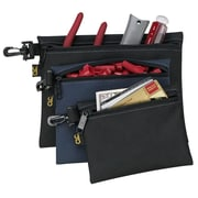 Custom Leathercraft 3 Piece Multipurpose Clip On Zippered Bags Set