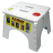 B&R Plastics 1-Step EZ Folds Folding Step Stool w/ 300 lb. Load Capacity; White