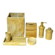 Rembrandt Home Polished Marble 7 Piece Bathroom Accessory Set
