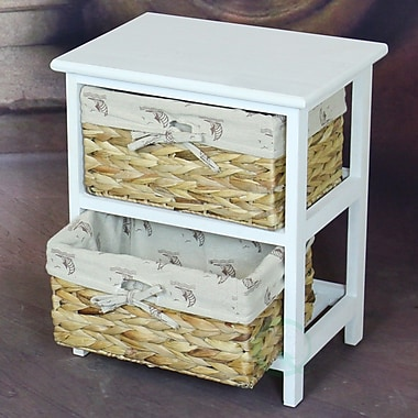 Quickway Imports 2 Drawer Vintique Wood Accent Chest
