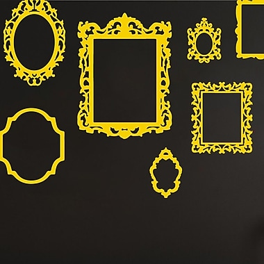 The Decal Guru Antique Picture Frames Wall Decal; Light Yellow