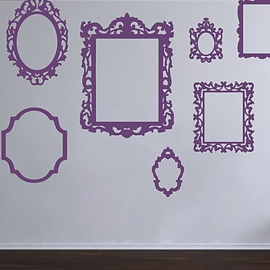 The Decal Guru Antique Picture Frames Wall Decal; Violet