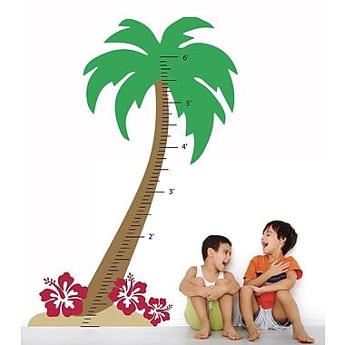 The Decal Guru Palm Tree Growth Chart Wall Decal; Red