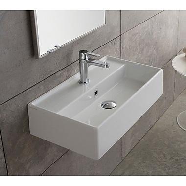 Scarabeo by Nameeks Teorema 24'' Wall Mounted Bathroom Sink w/ Overflow; Single Hole