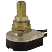 Gardner Bender Push Button Switch; Brass