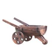 Quickway Imports Wood Wheelbarrow Planter