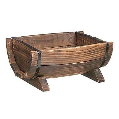 Quickway Imports Wood Pot Planter; 16''