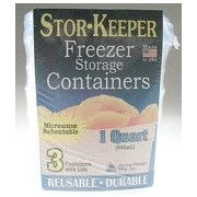 Arrow Plastic Mfg. Co. 1.5 Pint Stor-Keeper Freezer Storage Container (Set of 3)