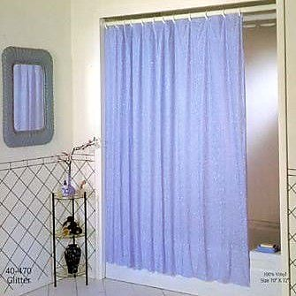 Excell Vinyl Luxury Glitter Shower Curtain; Royal
