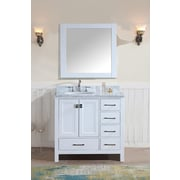 Ari Kitchen & Bath Bella 36'' Single Bathroom Vanity Set w/ Mirror; White