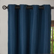 Linen Tablecloth Outdoor Blackout Single Curtain Panel; 54'' W x 63'' L