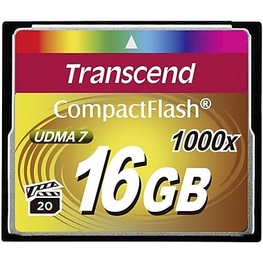 Transcend TS16GCF1000 16 GB CompactFlash Memory Card Ultimate 1000x UDMA