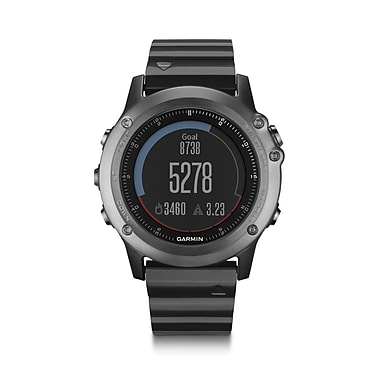Garmin fenix® 3 Sapphire Multisport Training GPS Watch, Grey with Metal Band