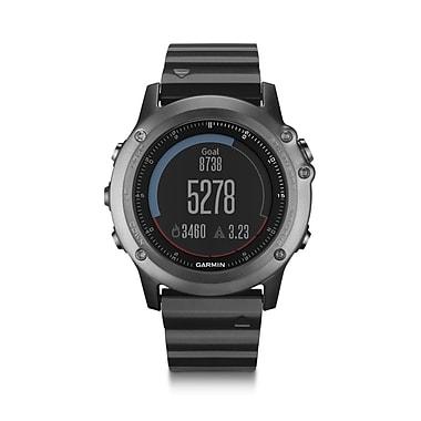 Garmin – Montre GPS d'entraînement multisport fenixMD 3 Sapphire, gris avec bracelet en métal
