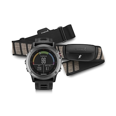 Garmin fenix® 3 Multisport Training GPS Watch Performer Bundle, Grey
