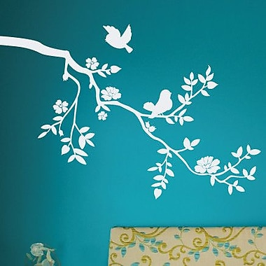 SissyLittle Twiggy Blossoms Wall Decal; White