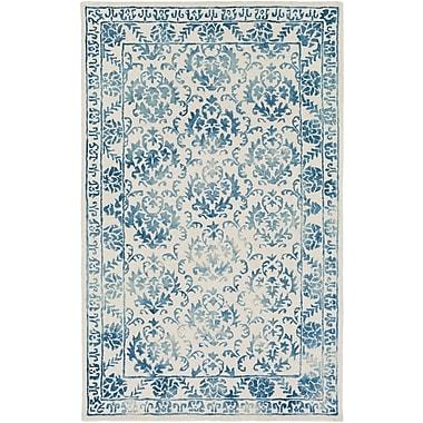 Artistic Weavers Organic Aubrey Hand Tufted Teal/Off-White Area Rug; 5' x 8'