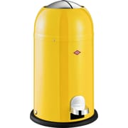 Wesco Kickmaster Junior 3.5 Gallon Step-On Steel Trash Can; Yellow