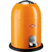 Wesco Single Master 2 Gallon Step-On Steel Trash Can; Orange