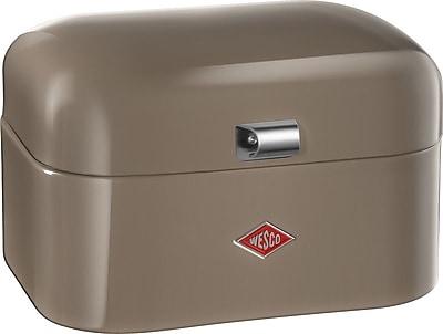Wesco Single Grandy Bread Box; Warm Grey