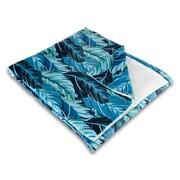 Island Girl Home Tropical Midnight Jungle Fleece Throw Blanket