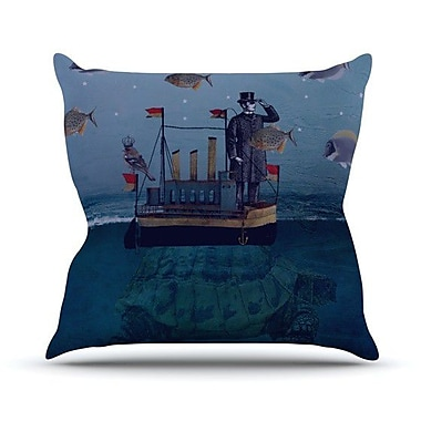 KESS InHouse The Voyage Throw Pillow; 18'' H x 18'' W