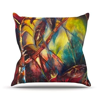 KESS InHouse Growth Throw Pillow; 18'' H x 18'' W