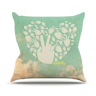 KESS InHouse Serenity Throw Pillow; 18'' H x 18'' W