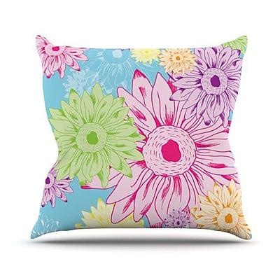 KESS InHouse Summer Time Throw Pillow; 16'' H x 16'' W